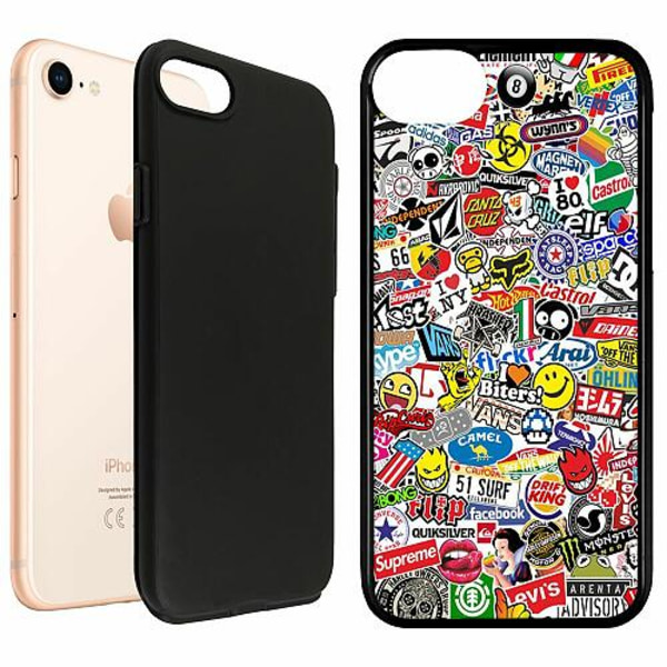 Apple iPhone 7 Duo Case Svart Stickers