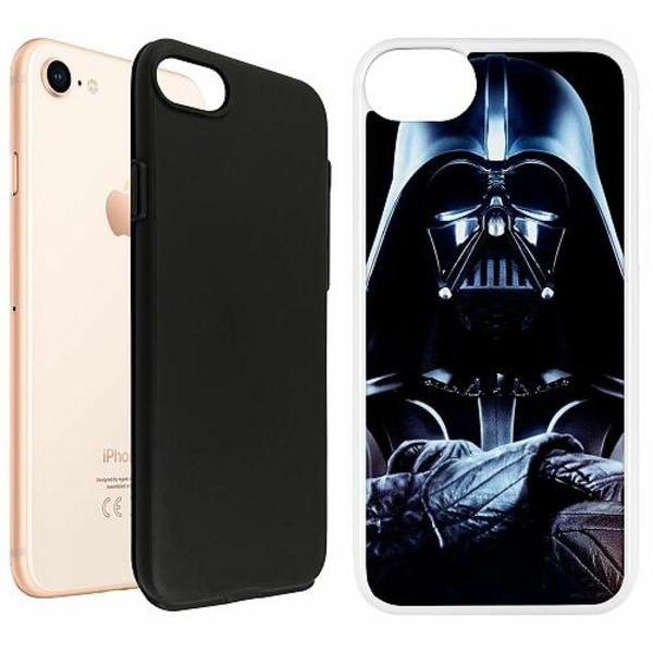 Apple iPhone 8 Duo Case Vit Darth vader
