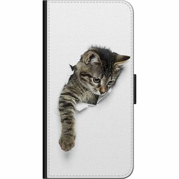 Huawei Y6 (2018) Fodralväska Curious Kitten