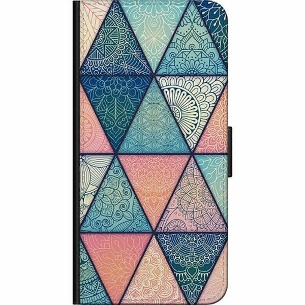 Apple iPhone 5 / 5s / SE Fodralväska Mandala triangles