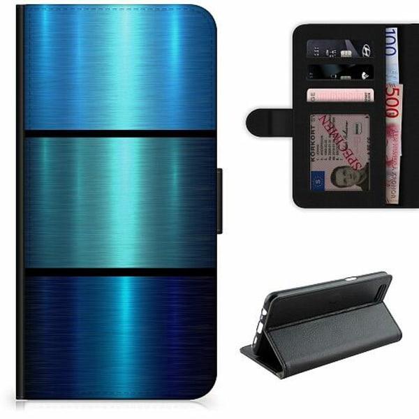 Samsung Galaxy S21+ Lyxigt Fodral Blue Metallic Stripes