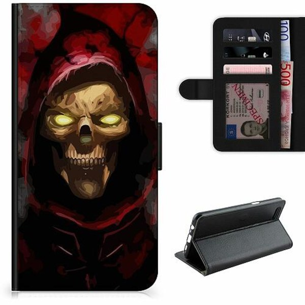Apple iPhone 12 Pro Lyxigt Fodral Doctor Red Skull