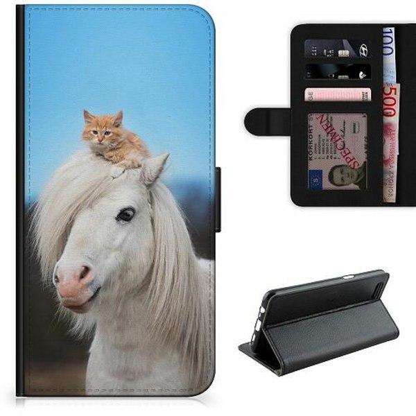 OnePlus 7 Lyxigt Fodral Häst & Katt
