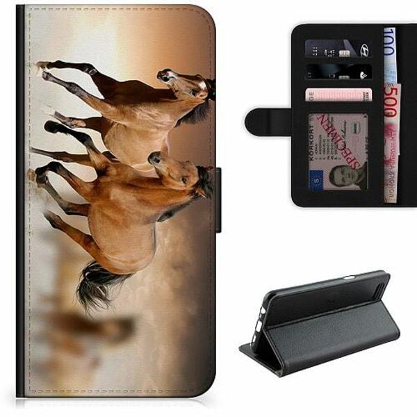 OnePlus 7 Lyxigt Fodral Hästar