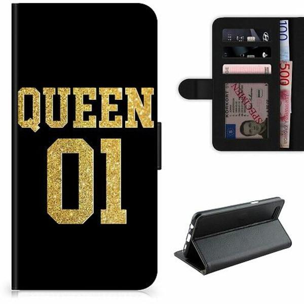 Samsung Galaxy S21+ Lyxigt Fodral Queen 01 Black Gold