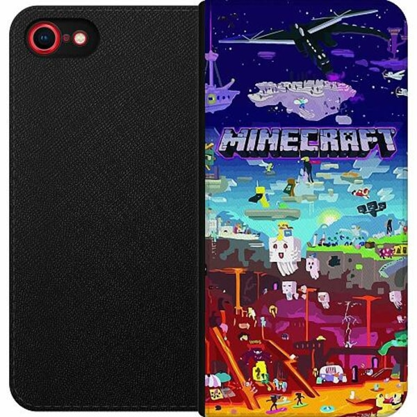 Apple iPhone 8 Magnetic Wallet Case MineCraft