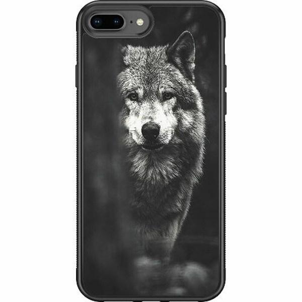 Apple iPhone 8 Plus Soft Case (Svart) Wolf / Varg