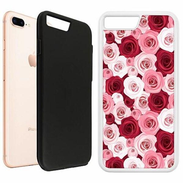 Apple iPhone 7 Plus Duo Case Vit Blommor