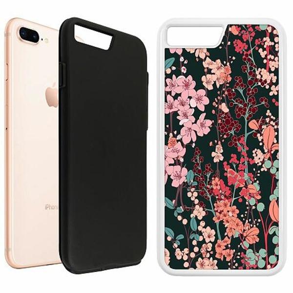 Apple iPhone 7 Plus Duo Case Vit Herbaceous Retro