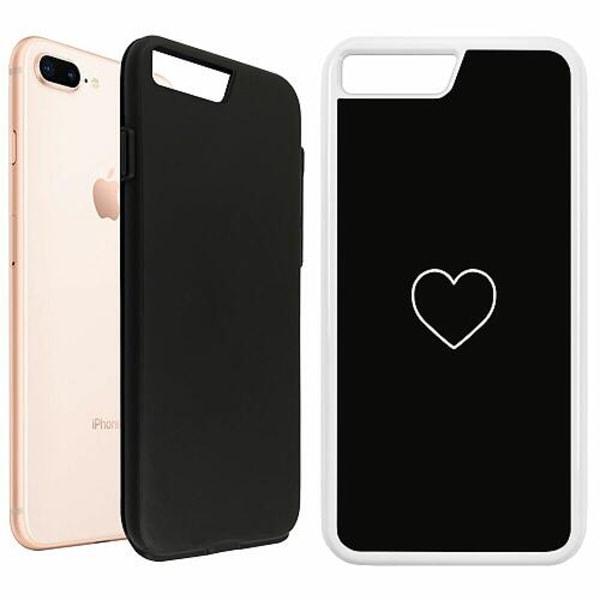 Apple iPhone 7 Plus Duo Case Vit Hjärta