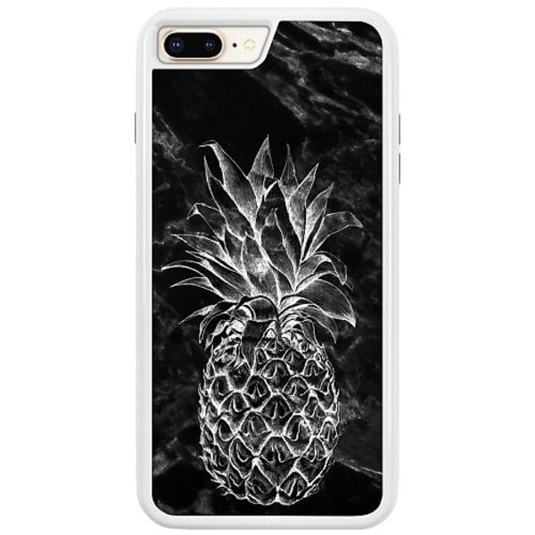 Apple iPhone 7 Plus Duo Case Vit Marmor Ananas