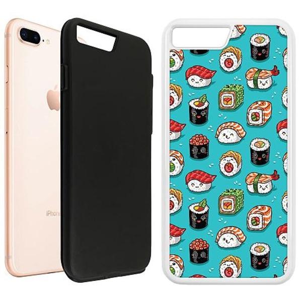 Apple iPhone 8 Plus Duo Case Vit Sushi