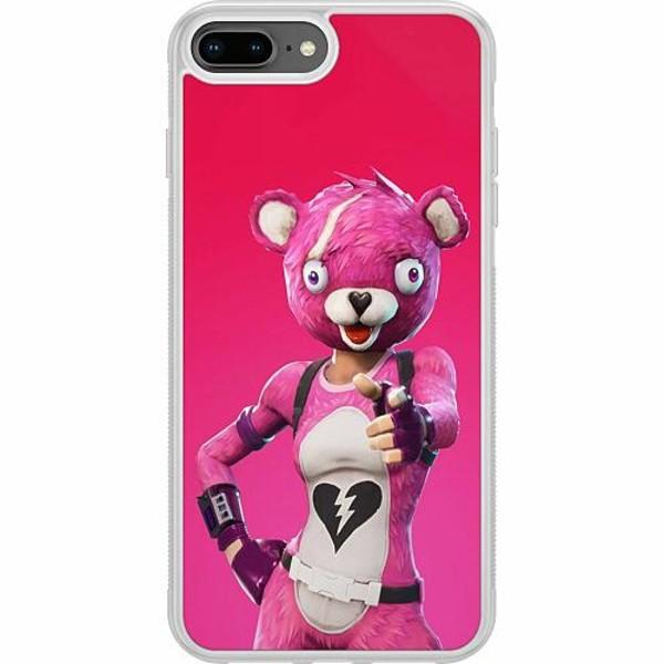 Apple iPhone 7 Plus Soft Case (Frostad) Fortnite Pink Bear