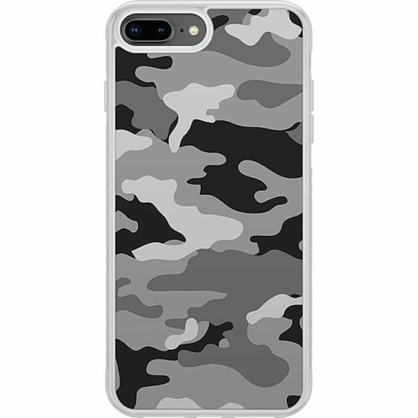Apple iPhone 7 Plus Soft Case (Frostad) Military B/W