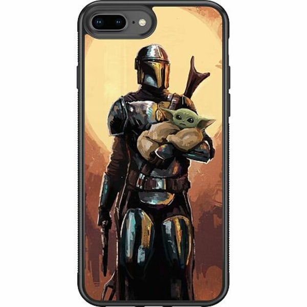 Apple iPhone 7 Plus Soft Case (Svart) Baby Yoda