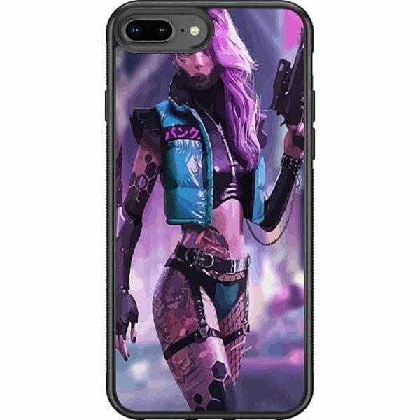 Apple iPhone 8 Plus Soft Case (Svart) Cyberpunk 2077