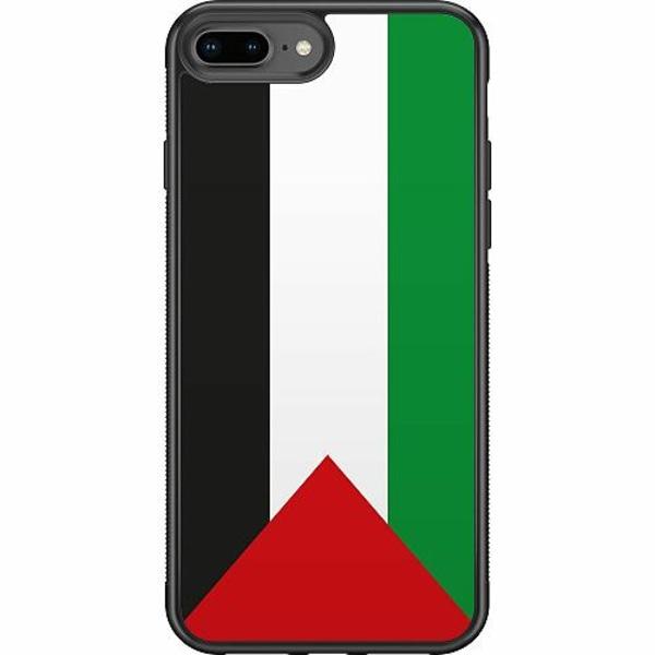 Apple iPhone 8 Plus Soft Case (Svart) Palestina Flagga