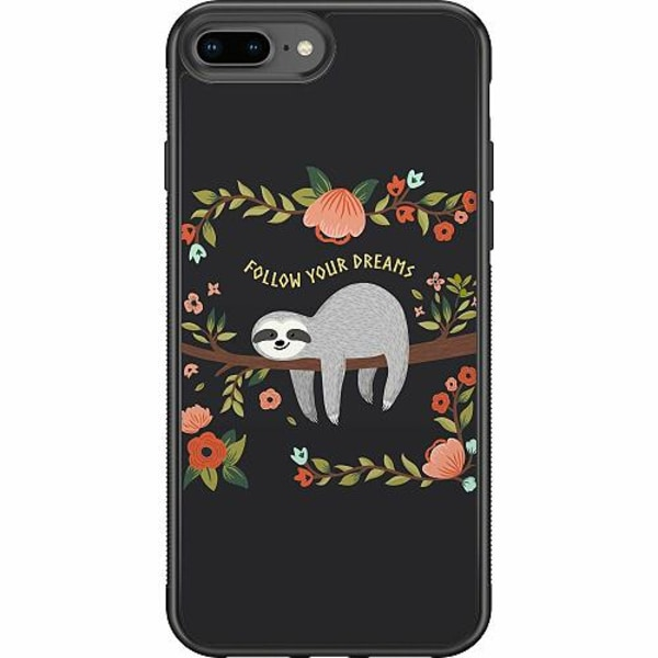 Apple iPhone 7 Plus Soft Case (Svart) Sloth of wisdom