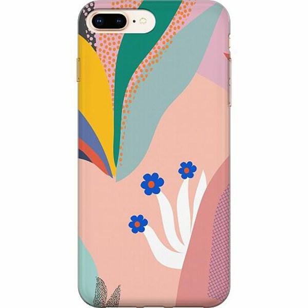 Apple iPhone 8 Plus TPU Mobilskal Surfs Up, Coral
