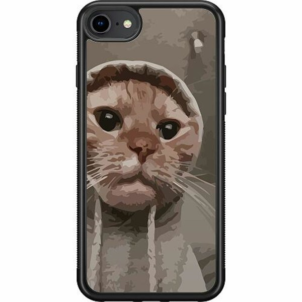 Apple iPhone SE (2020) Soft Case (Svart) Cat Called