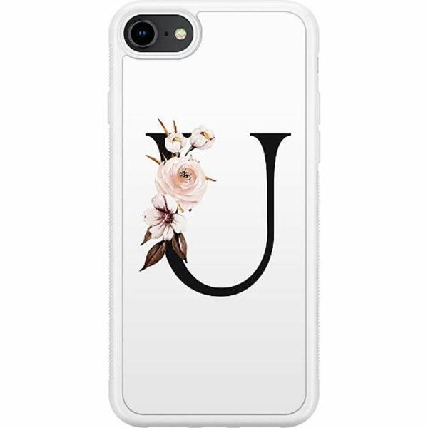 Apple iPhone 7 Soft Case (Vit) Bokstäver