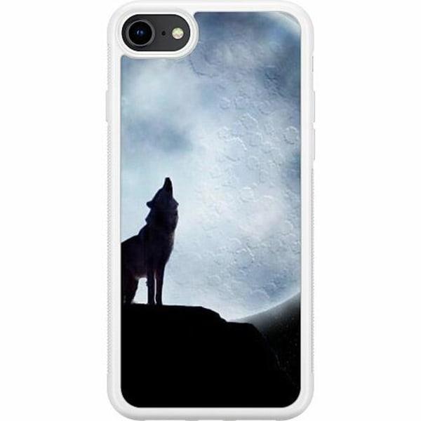 Apple iPhone 8 Soft Case (Vit) Wolf / Varg