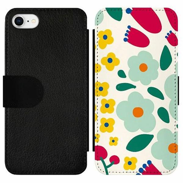 Apple iPhone 7 Wallet Slim Case Baby Flowers
