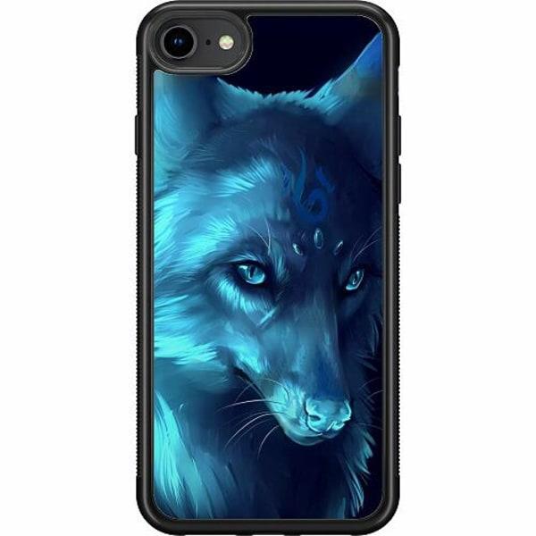 Apple iPhone SE (2020) Soft Case (Svart) Wolf / Varg