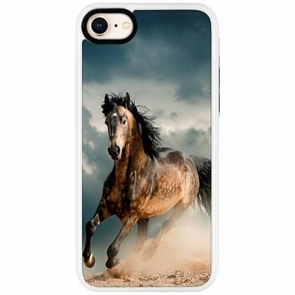 Apple iPhone 7 Duo Case Vit Häst