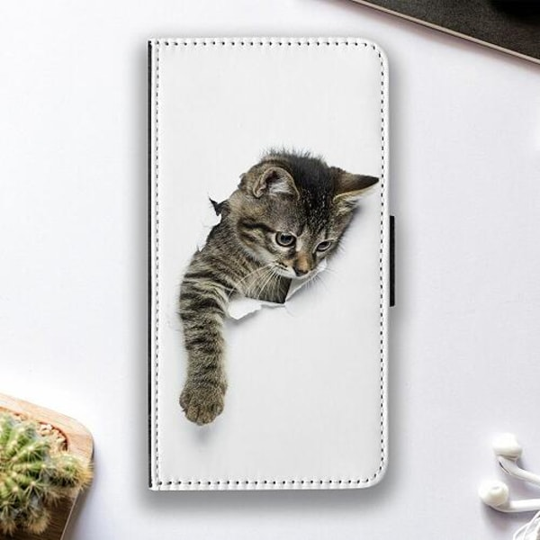 Huawei P40 Lite E Fodralskal Curious Kitten