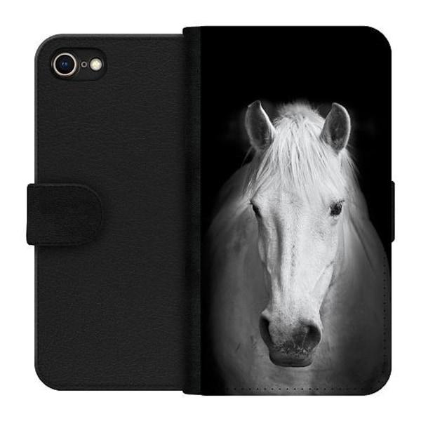 Apple iPhone 7 Plånboksfodral Vit Häst