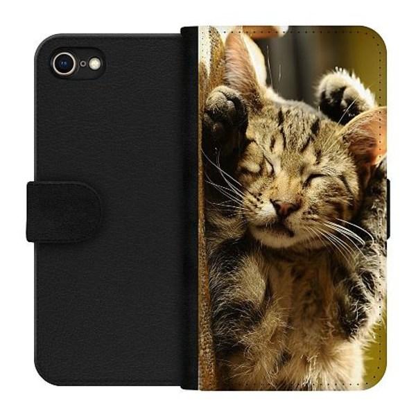 Apple iPhone 7 Plånboksfodral Sleep Little Cutie Cat