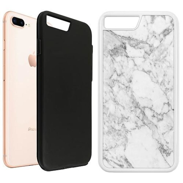 Apple iPhone 7 Plus Duo Case Vit Marmor Vit
