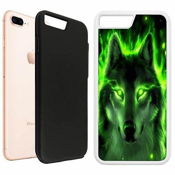 Apple iPhone 8 Plus Duo Case Vit Statement Wolf 1055