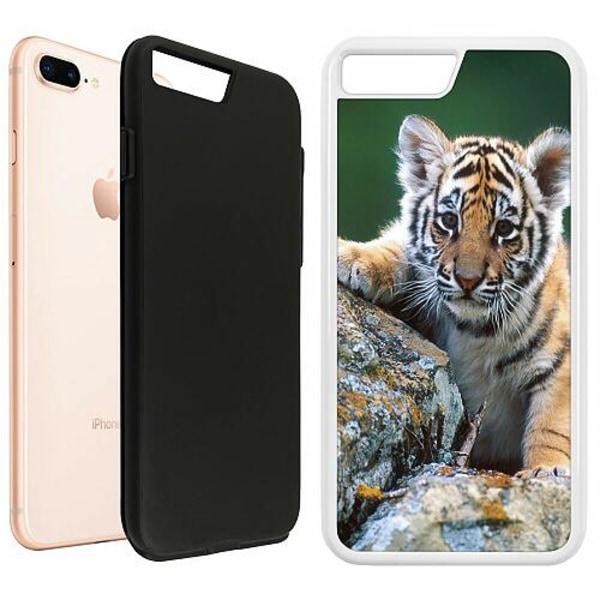 Apple iPhone 7 Plus Duo Case Vit Tiger