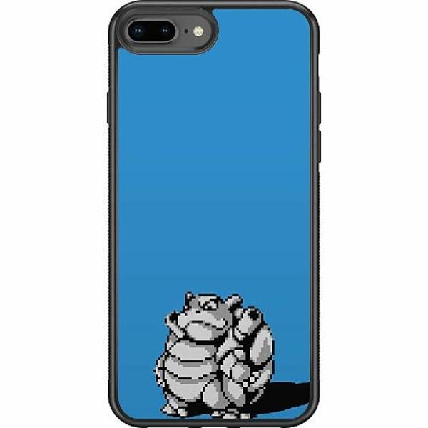 Apple iPhone 8 Plus Soft Case (Svart) Pixel art Pokémon