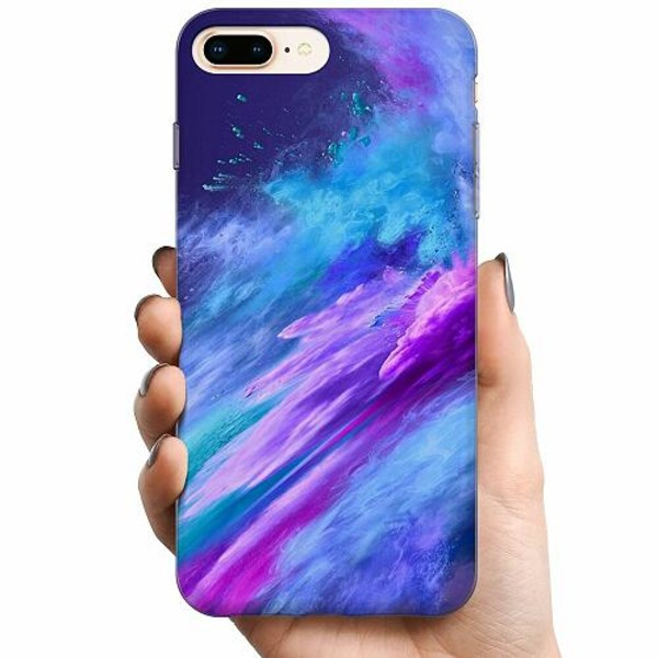 Apple iPhone 8 Plus TPU Mobilskal Crashing Purples