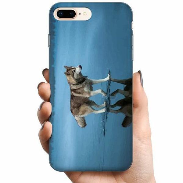 Apple iPhone 8 Plus TPU Mobilskal Wolf On Ice