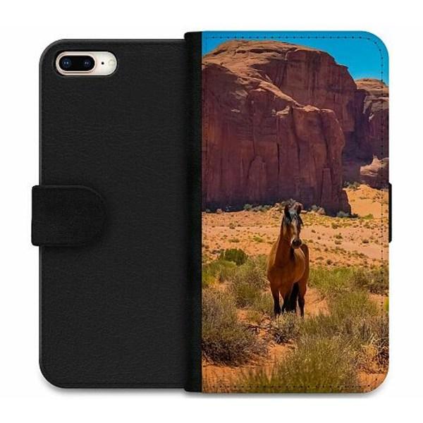Apple iPhone 8 Plus Wallet Case Häst / Horse