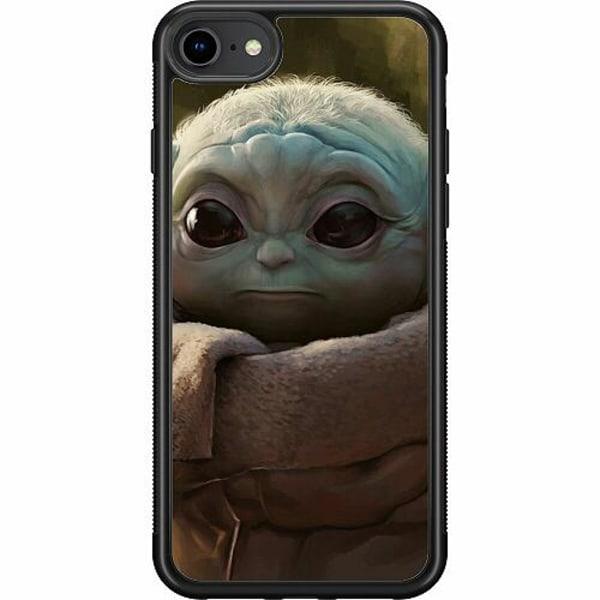 Apple iPhone 8 Soft Case (Svart) Baby Yoda