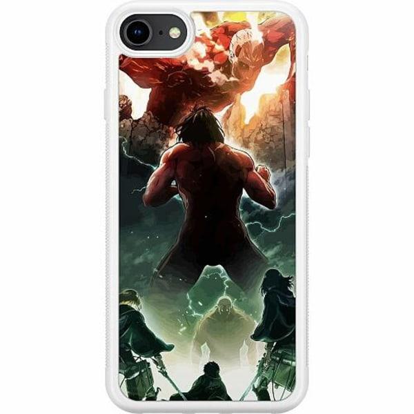 Apple iPhone 7 Soft Case (Vit) Attack On Titan