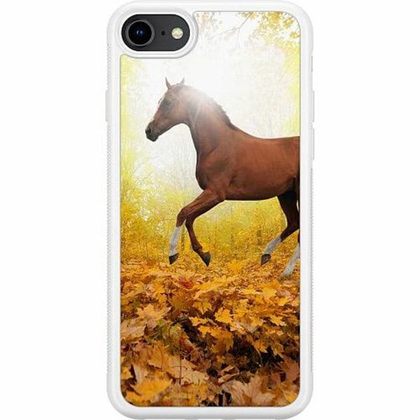 Apple iPhone 7 Soft Case (Vit) Häst / Horse