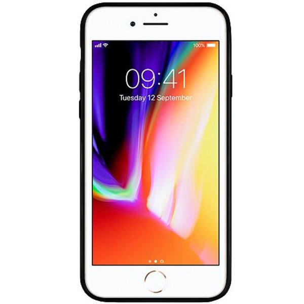 Apple iPhone 7 Svart Mobilskal med Glas Spiderman