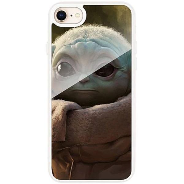 Apple iPhone 7 Transparent Mobilskal med Glas Baby Yoda