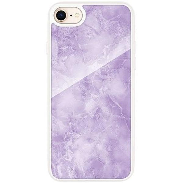 Apple iPhone 7 Transparent Mobilskal med Glas Marmor