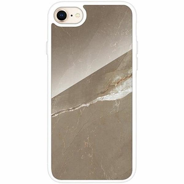 Apple iPhone 8 Vitt Mobilskal med Glas Density