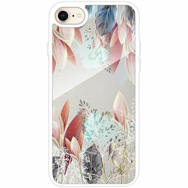 Apple iPhone 7 Vitt Mobilskal med Glas Dove