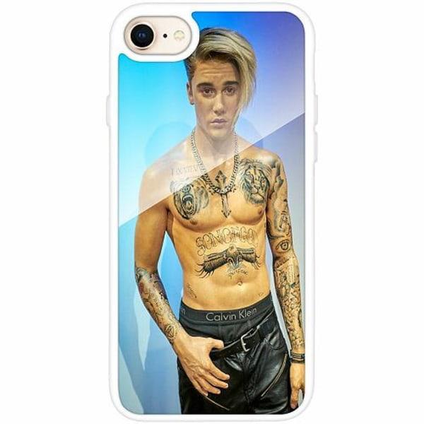 Apple iPhone 8 Vitt Mobilskal med Glas Justin Bieber 2020