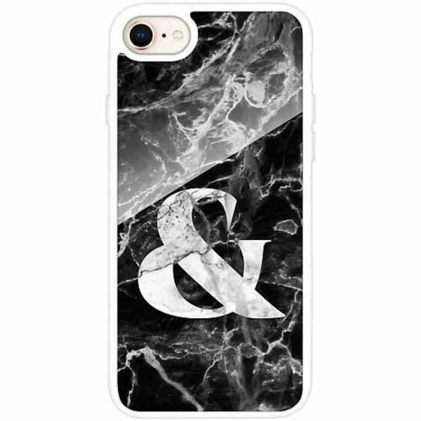 Apple iPhone 7 Vitt Mobilskal med Glas Marmor