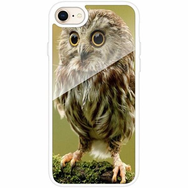 Apple iPhone 8 Vitt Mobilskal med Glas Owl